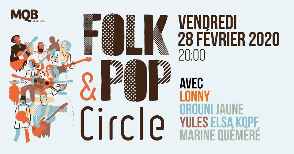 Des places à gagner pour le prochain Folk & Pop Circle à Malakoff